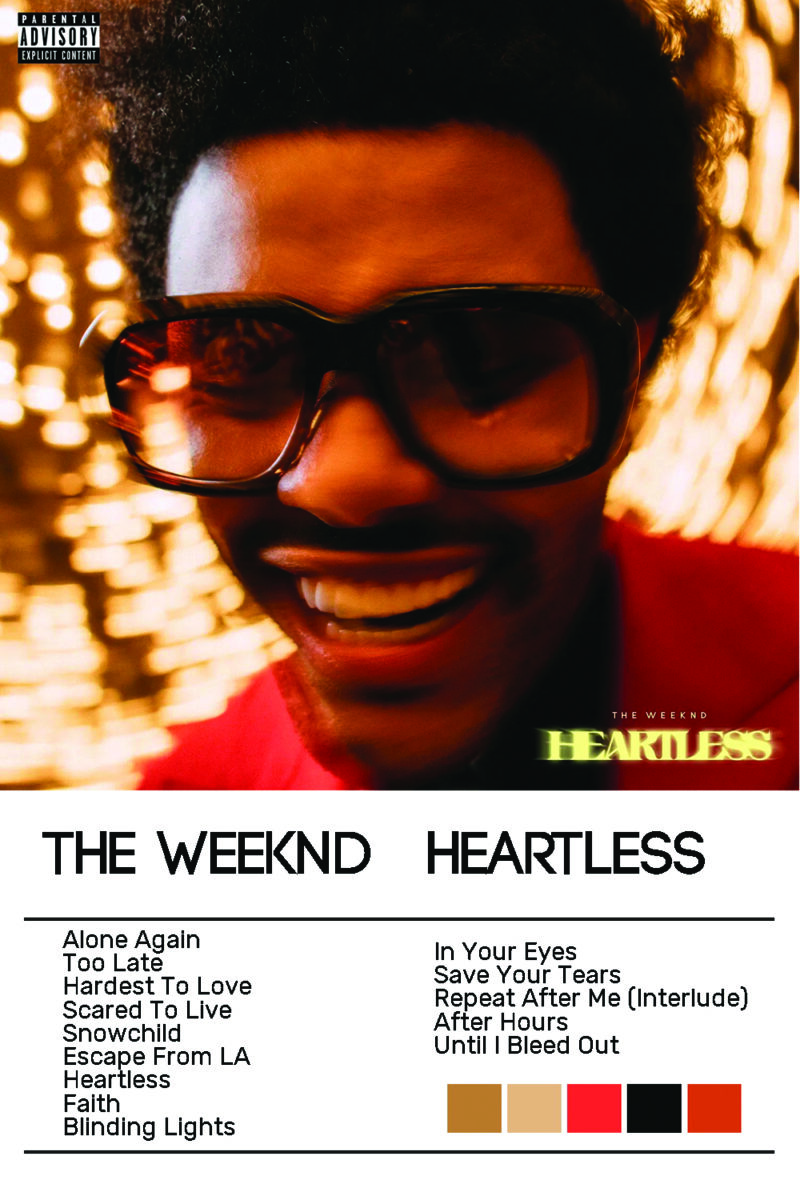 the weekend track list poster